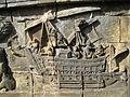 Level 1, Inner Wall Bottom - Borobudur - 122 Divyavadana, North Wall, Panel 88, Rudrayana (detail, right) (8598695857).jpg