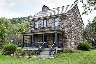 Shirley Township, Huntingdon County, Pennsylvania - The Lewis Smalley Farmhouse, built 1794