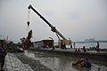 Lifting Immersed Durga Idol Remains - Baja Kadamtala Ghat - Kolkata 2015-10-22 6603.JPG