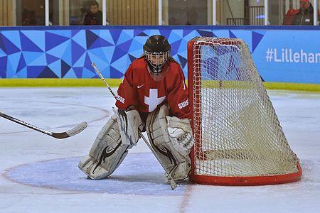 Saskia Maurer of Switzerland during the Sweden - Switzerland game at the YOG2016