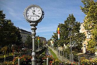 Münchberg - Pedestrian zone of Münchberg