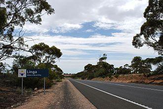 Linga, Victoria - Entering Linga