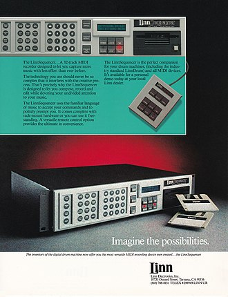 LinnSequencer - Image: Linn Sequencer hardware MIDI sequencer brochure page 1 300dpi