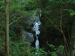 Little Miami River through Clifton Gorge.JPG