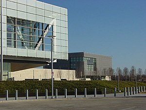 Clinton Presidential Center - The archives building (in the background) contains by far the greatest amount of records for a president.