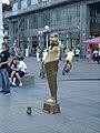 Living statue in Ban Jelačić Square.jpg