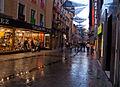 Lluvia en Madrid, distrito Centro.jpg