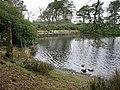 Llyn Maen Bras - the dam - geograph.org.uk - 396304.jpg