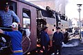 Loading touring bikes into the Harzquerbahn, Wernigerode May 1990 (3432099298).jpg