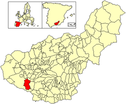 Location of Arenas del Rey