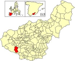 Arenas del Rey - Image: Location Arenas del Rey
