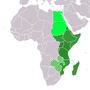 ที่ตั้งแอฟริกาตะวันออก