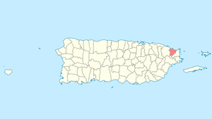 Location of Luquillo in Puerto Rico