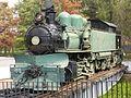 Locomotora de vapor articulada sistema Kitson-Meyer, año 1909, del Museo Ferroviario de Santiago de Chile.JPG