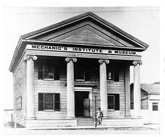 London Public Library - The Mechanics Institute in London,Ontario circa. 1860-1877