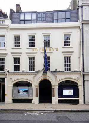 Sotheby's - Sotheby's office on New Bond Street, London.