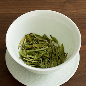 Longjing tea after steeping.jpg