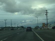 Looking down Pulaski Highway (US 40) in Rosedale, Maryland.jpg
