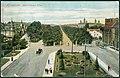 Louis Glaser PC 04253 Autochrom Hannover. Herrenhäuser Allee. Bildseite. Blick über den Königsworther Platz, Straßenbahn, Kutsche ...jpg