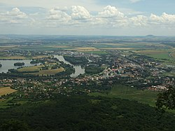 Lovosice, Lovoš, pohled na město Lovosice.JPG