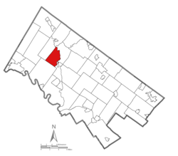 Location of Lower Frederick Township in Montgomery County