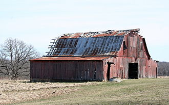 Lincoln County, Missouri - An old barn in rural Lincoln County