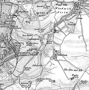 Luckington - Image: Luckington from OS 1817 1830 series map