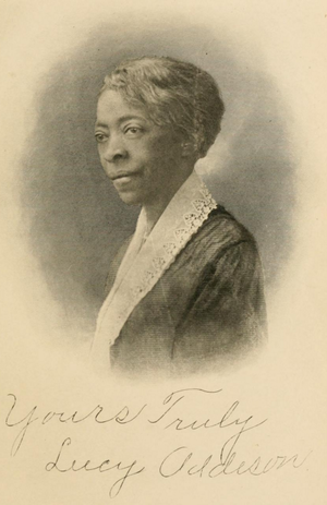 Lucy Addison - Portrait of Addison from History of the American Negro and his institutions, published 1917