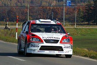 Munchi's Ford World Rally Team - Companc driving on a road section of the 2007 Rally Japan.