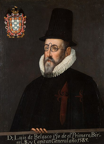 Luis de Velasco II, Marques de Salinas, Viceroy of New Spain and of Peru, later President of the Council of the Indies LuisdeVelascoII.jpg