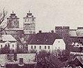 Lund, Herrehuset med domkyrkan och AF i bakgrunden 1860-tal.jpg