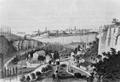 Luxembourg, vue prise de la vallée de Pulvermuhl (ca 1845).png