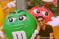 M&M's World characters Green and Red at Candylicious, Resorts World Sentosa, Singapore - 20140213.jpg