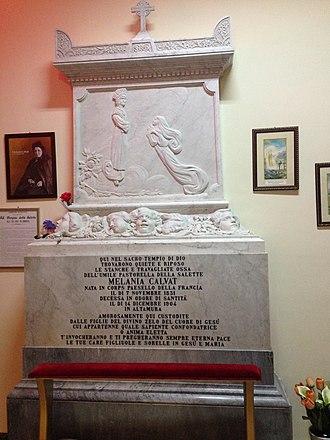 Mélanie Calvat - Mélanie Calvat's tomb, located in Altamura, Italy