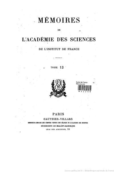 File:Mémoires de l'Académie des sciences, Tome 13.djvu