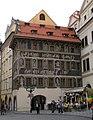 Městský dům U Minuty, U Bílého lva (Staré Město), Praha 1, Staroměstské nám. 2, Staré Město.JPG