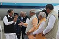 M. Venkaiah Naidu being received by the Governor of Punjab & the Administrator of Chandigarh, Shri V.P. Singh Badnore, the Governor of Haryana, Shri Kaptan Singh Solanki, the Chief Minister of Haryana (1).jpg