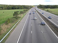 M3 eastbound between junction 6 (Basingstoke) and junction 5 (Hook) - geograph.org.uk - 69229.jpg