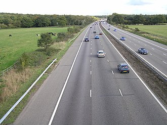 Andwell - Image: M3 eastbound between junction 6 (Basingstoke) and junction 5 (Hook) geograph.org.uk 69229