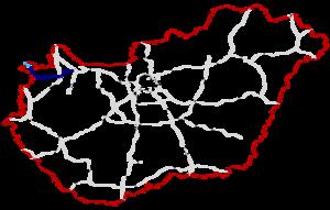 M85 expressway (Hungary) - Image: M85 Autóút Hungary