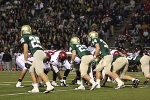 Mountain Brook High School -  The MBHS football team in a 2010 playoff contest against Gadsden City