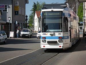 """Deutsch: Niederflur-Gelenktriebwagen Typ """"..."""