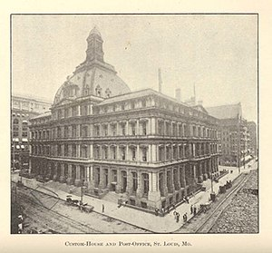 United States Customhouse and Post Office (St. Louis, Missouri) - Image: MO St. Louis courthouse 1884
