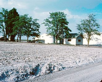 Connell, Washington - Ash deposits in Connell from the 1980 eruption of Mount St. Helens