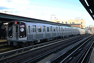 J/Z (New York City Subway service) - A J train of R179s at Flushing Avenue.