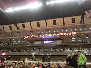 "United Center - One of the two former ""Madhouse"" signs of the UC before it was taken down after the 2012–13 season."