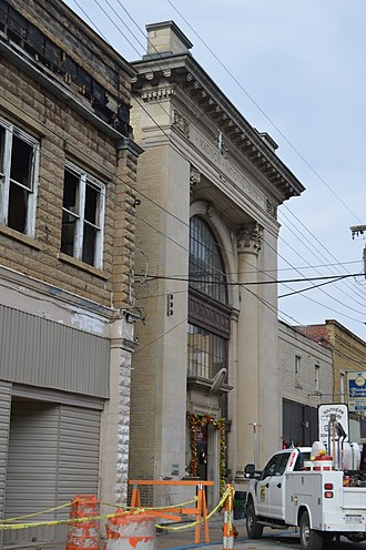 National Register of Historic Places listings in Boone County, West Virginia - Image: Madison National Bank from south