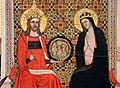 Maestro delle effigi domenicane, tavola del beato maurizio d'ungheria (santi e beati domenicani al cospetto di gesù e maria in trono), 1335-40 ca. 04.jpg