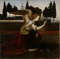 Magnus Enckell - Enkeli, kopio Leonardo da Vincin Marian ilmestys-maalauksen mukaan, osa - A I 596 - Finnish National Gallery.jpg