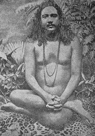Naked yoga - Nigamananda Paramahansa, yogi and Hindu leader, India, 1904.